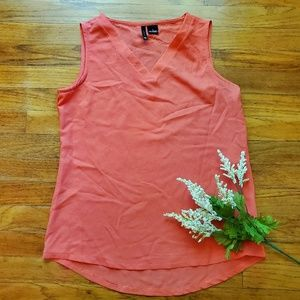 New Directions Coral high low tank top Sz S